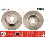 BRAKE DISC PAIR REAR TRW