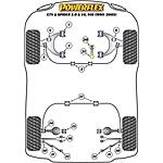 ALFA ROMEO GTV/SPIDER POWERFLEX REAR UPPER WISHBONE INNER BUSH SET OF 4
