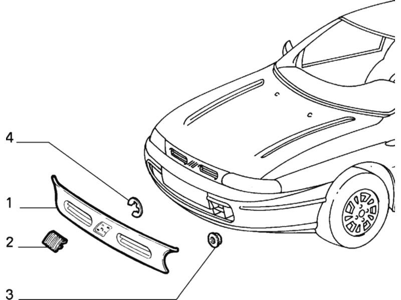 FIAT BRAVO/BRAVA FIAT TYPE PLATE