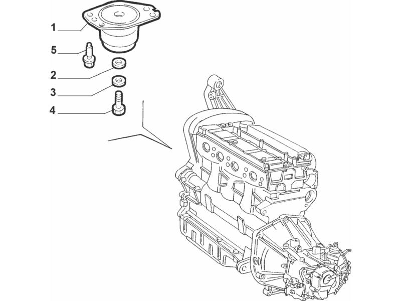 ALFA ROMEO GT ENGINE SUSPENSION PAD